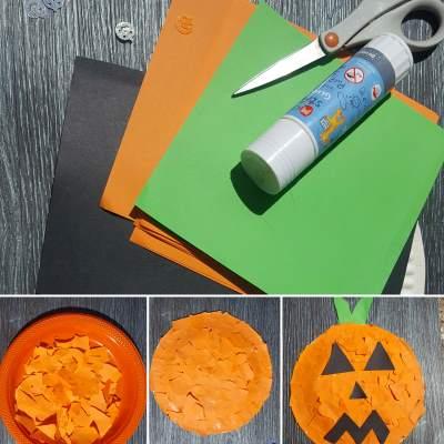 how to make a paper plate pumpkin craft