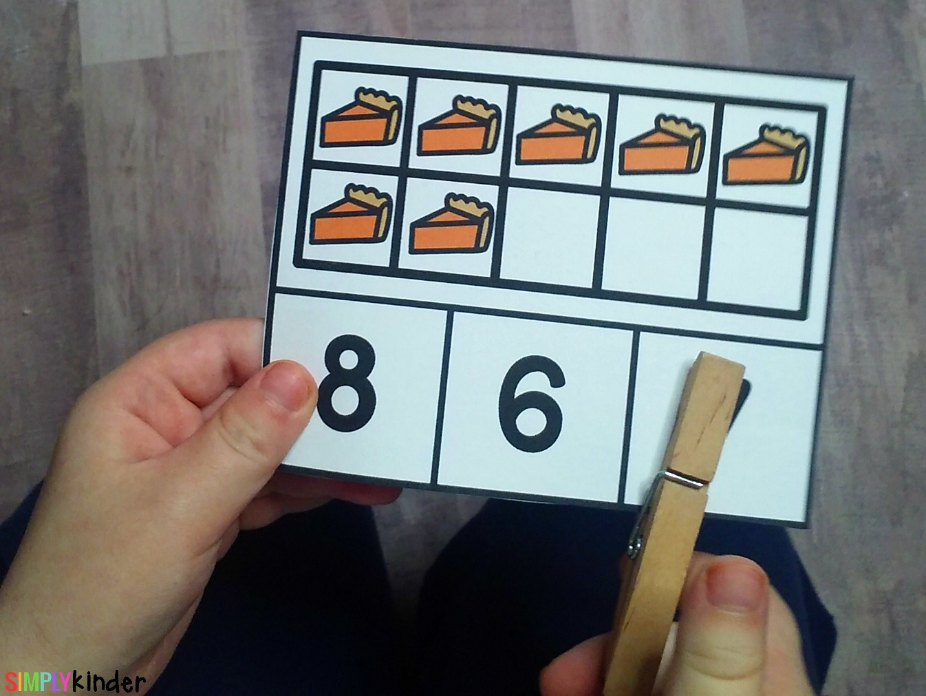 Pumpkin Pie Counting Cards