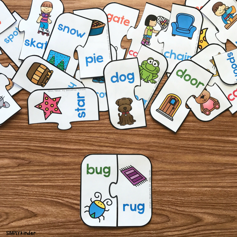 This is a photo of Rhyming Game Printable inside memory