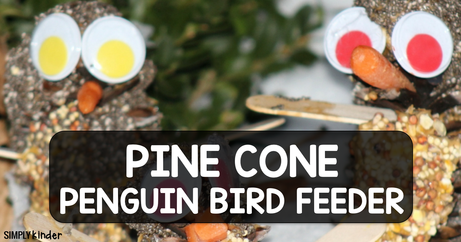 Pine Cone Penguin Bird Feeders