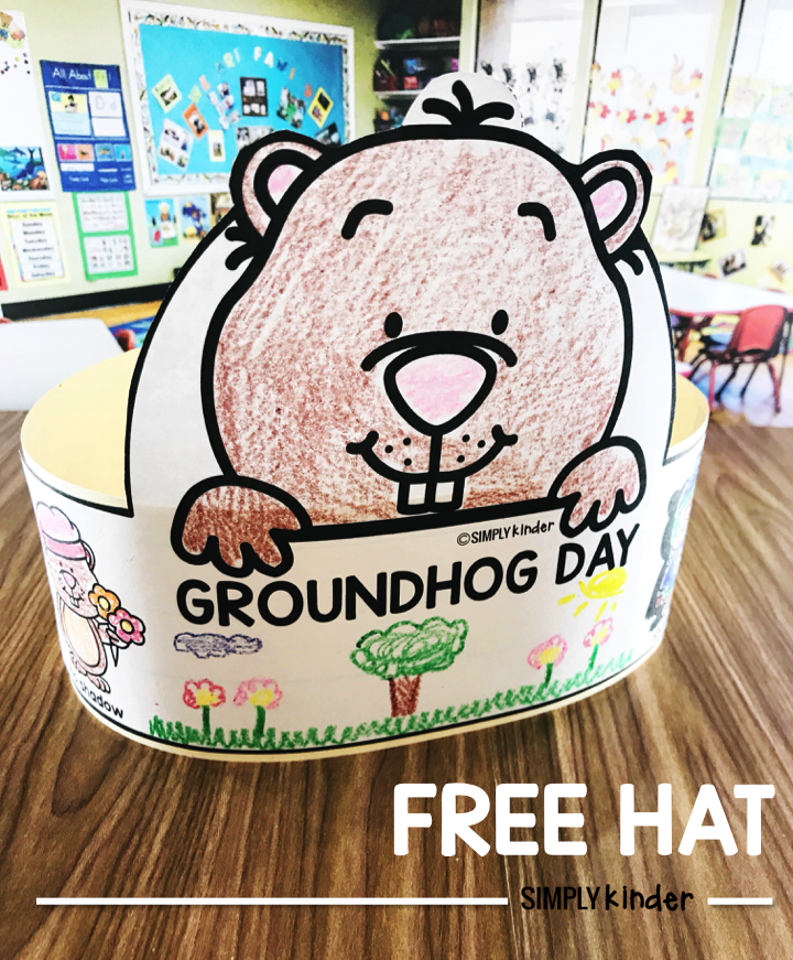 Groundhog Day is a just a silly holiday that is so fun to celebrate in kindergarten, preschool, and first grade!  The idea of a groundhog picking the season is just silly.  We want to help you celebrate with this fun and  Free Groundhog Day hat!