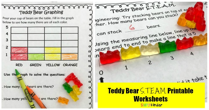 Teddy Bear Picnic Simple S.T.E.A.M. Worksheets