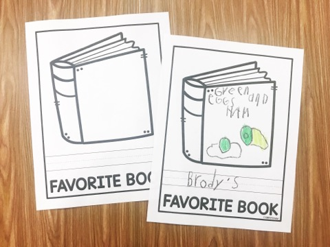 Favorite Book Free Printable from Simply Kinder