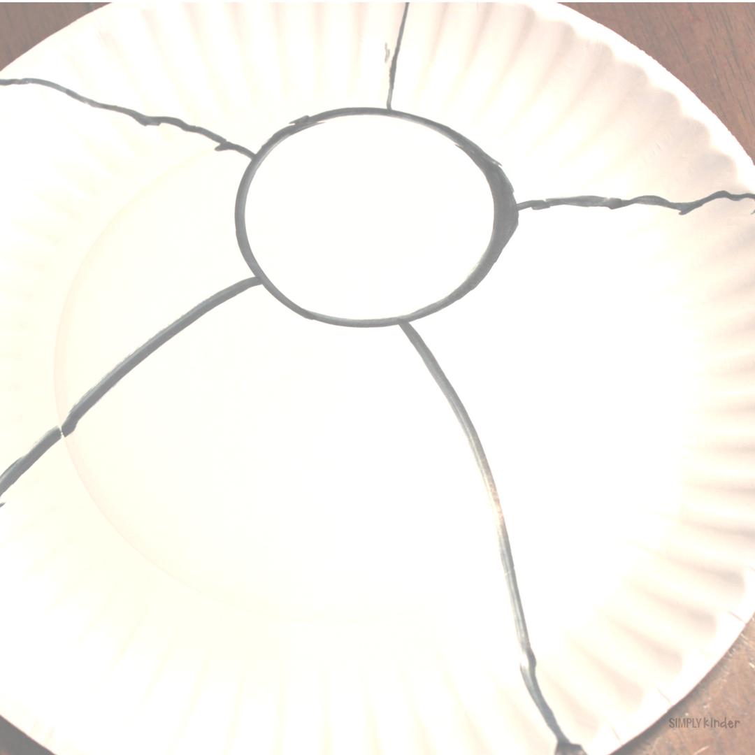 Beach Ball Paper Plate Craft