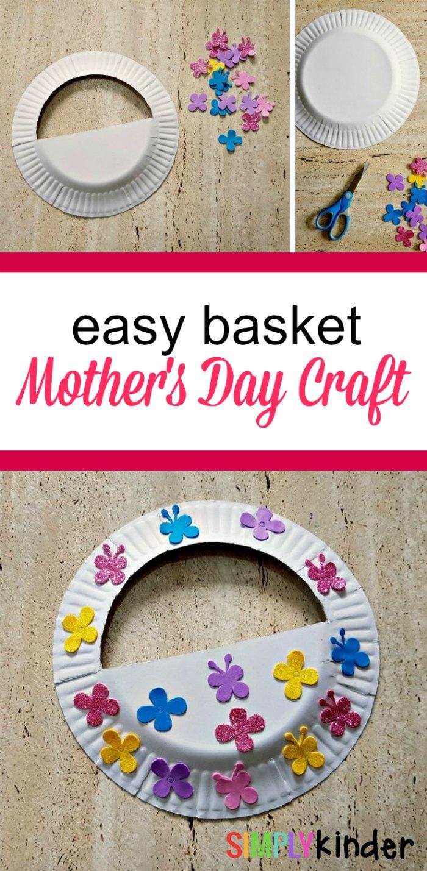 easy mother's day basket craft pinterest