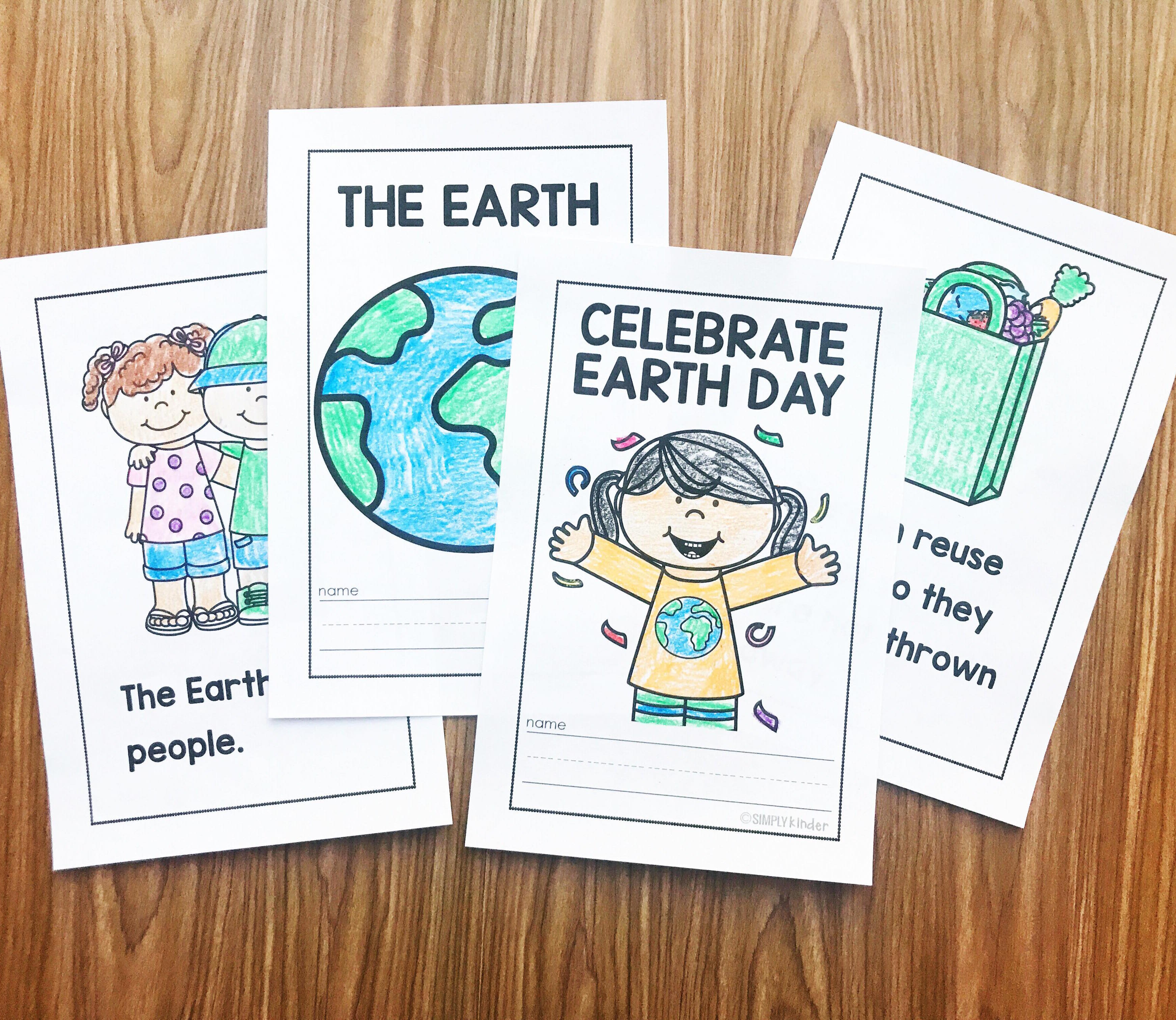 Learn about the Earth and Earth Day with these two easy to read books from Simply Kinder. Celebrate Earth Day talks about the holiday and why we celebrate. It discusses what kids can do to help. And The Earth is a super easy book about what is found on Earth. Both books are perfect for your preschool, kindergarten, and first grade students.