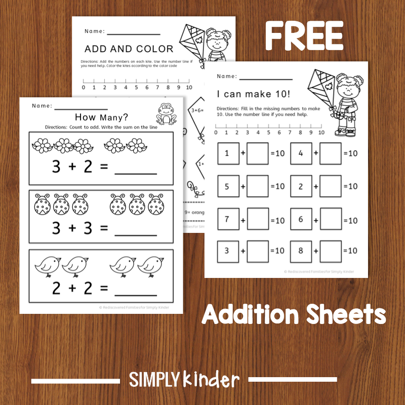 Kindergarten Math Activity: Fun With Addition Worksheets