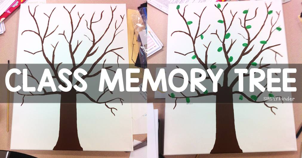 A class memory tree can be a beautiful piece of artwork to display to remember all of your students throughout your teaching career.