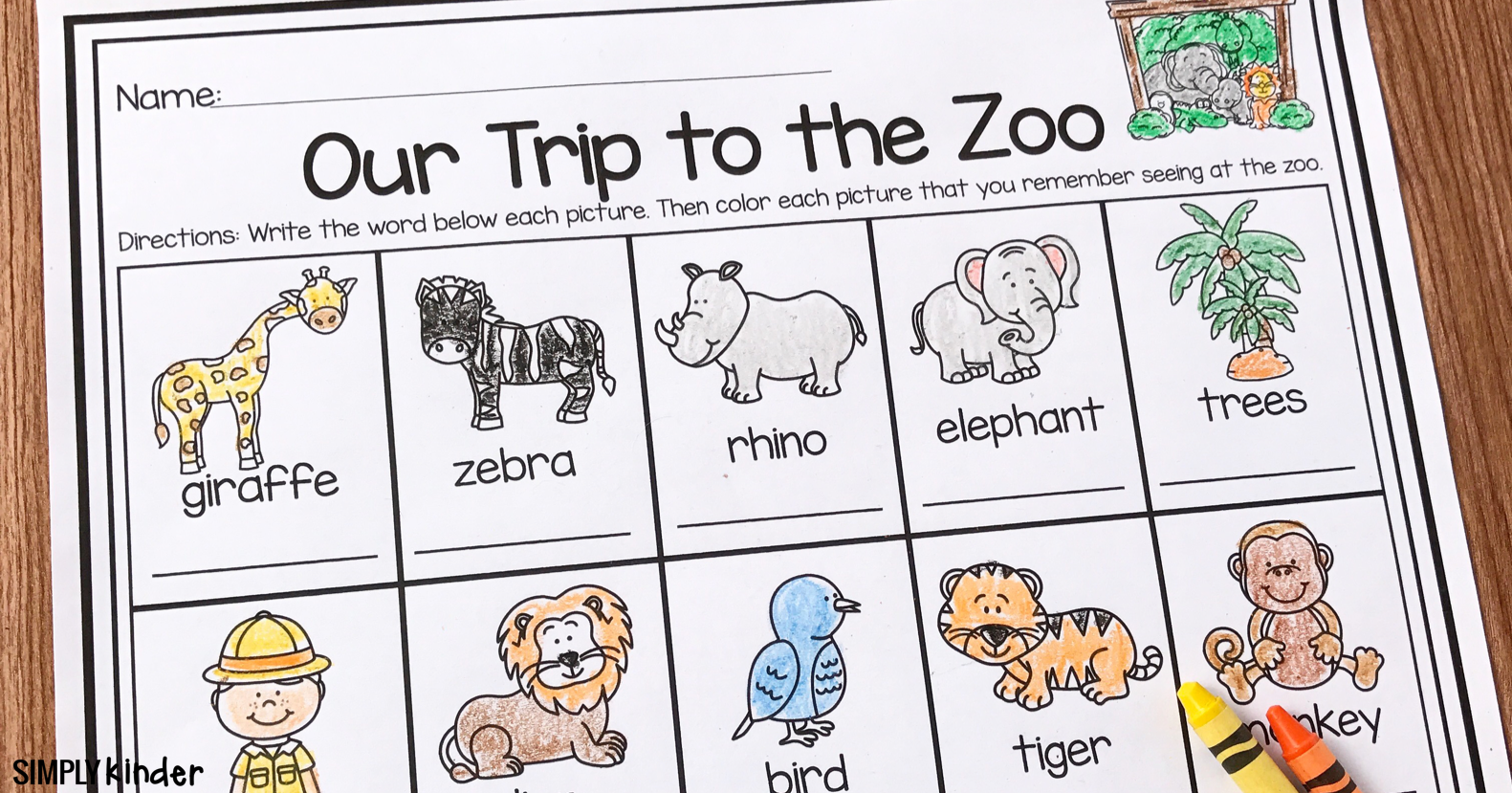 Zoo Field Trip Freebie