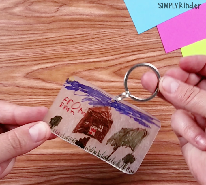 Student Drawing Shrinky Dink Keychain
