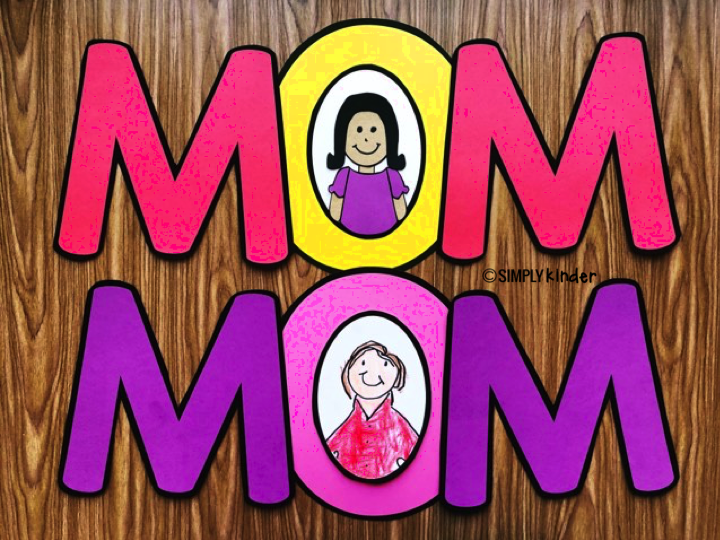 A fun Mother's Day Craft for preschool, kindergarten, and first grade students. You can pick whether they do the Mother's Day Craft, or Mother's Day Directed Drawing to go in the center to the O.