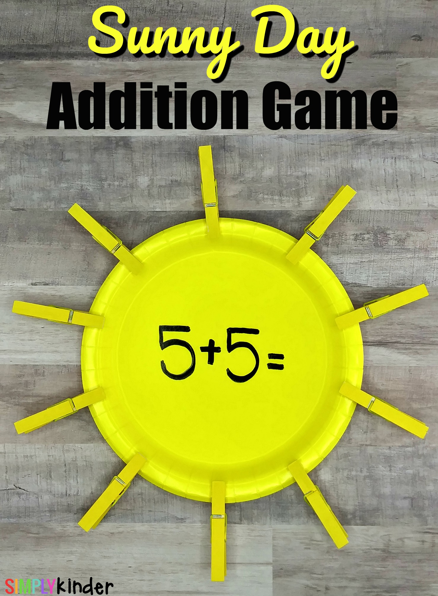 Sunny Day Addition Game