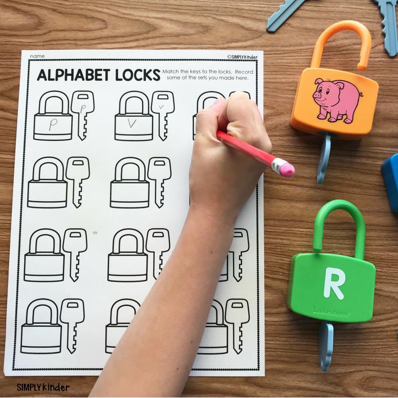 Alphabet Lock Center