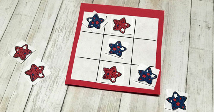 Red, White, and Blue Printable Game for Kids
