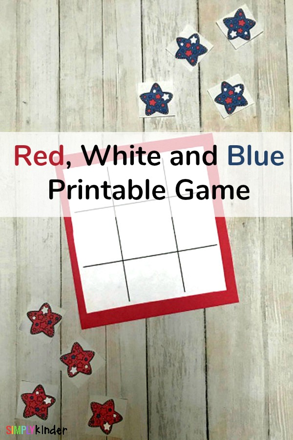 Red, White and Blue Printable Game