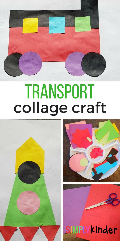 transport collage craft