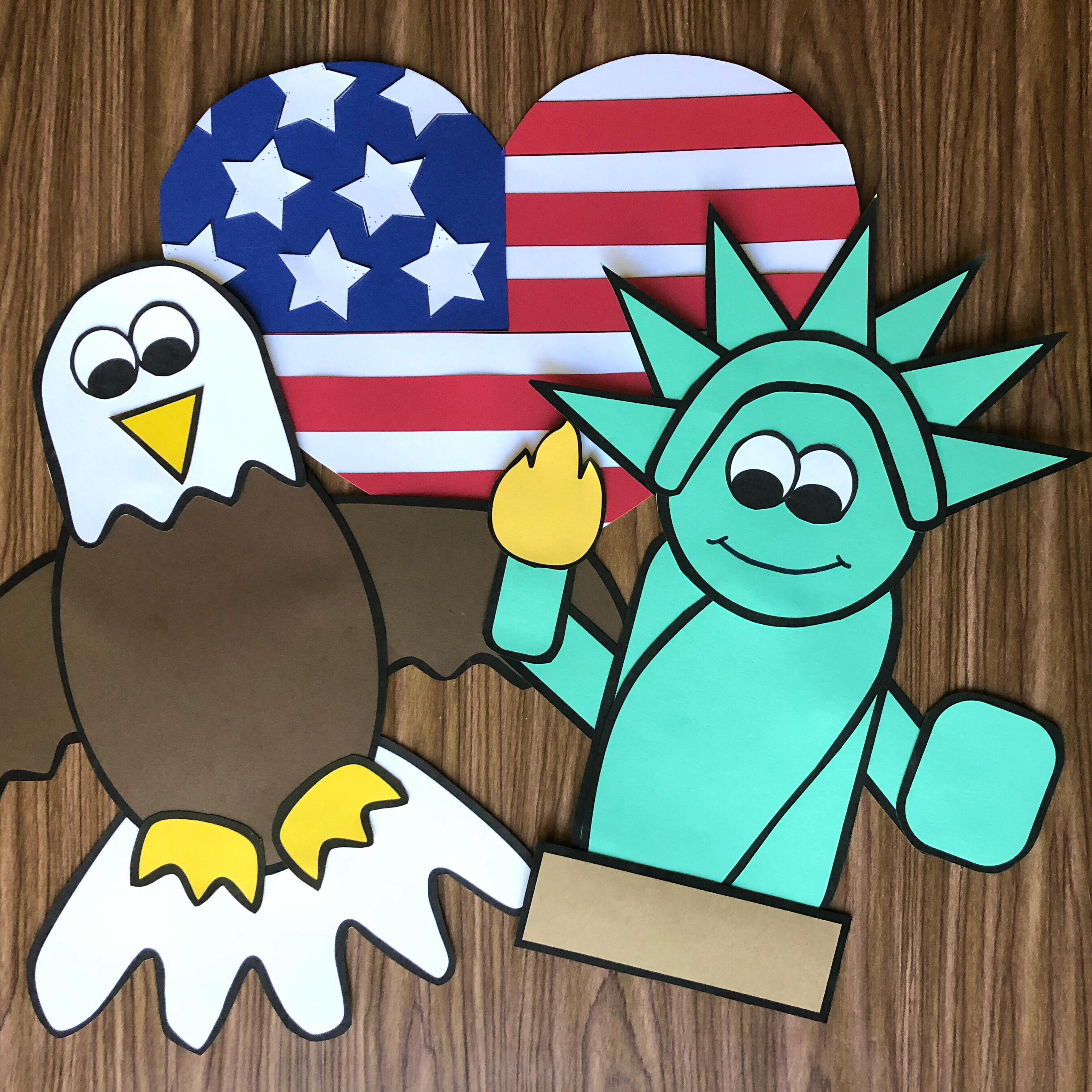 America Crafts - Fun and easy to assemble crafts all about America!