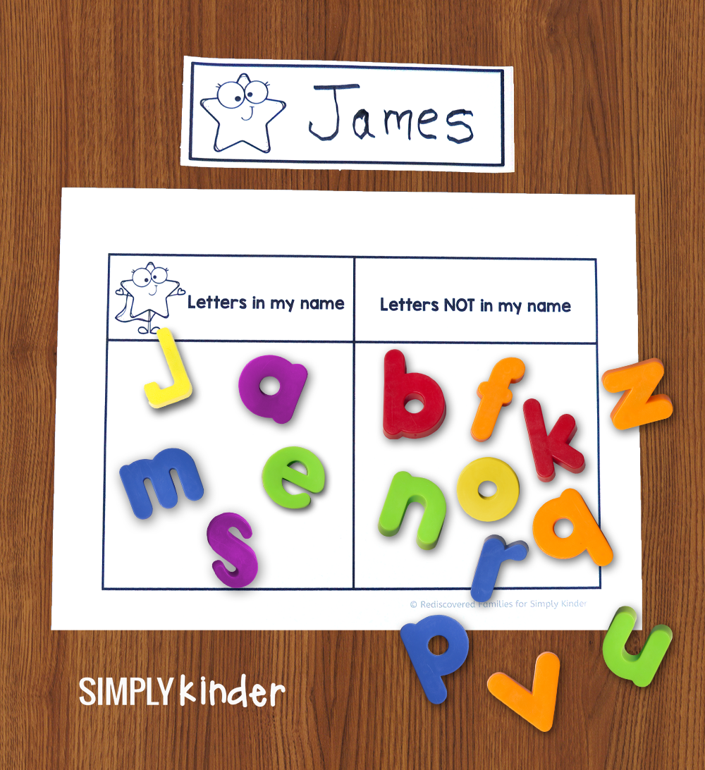 Sorting Game To Help Kinders Learn Their Names (Free Printable)