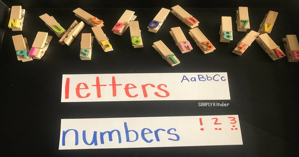 Letter and Number Discrimination
