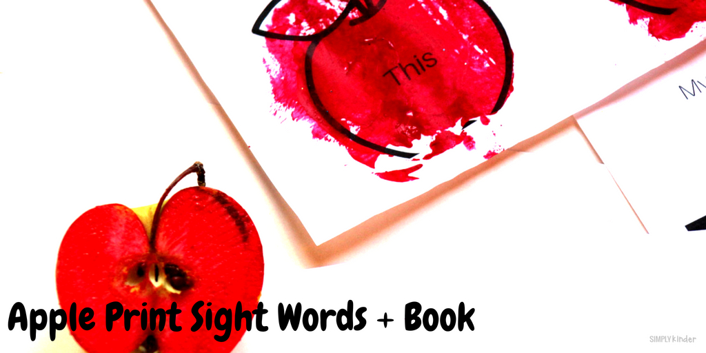 Apple Print Sight Words and Printable Book Project