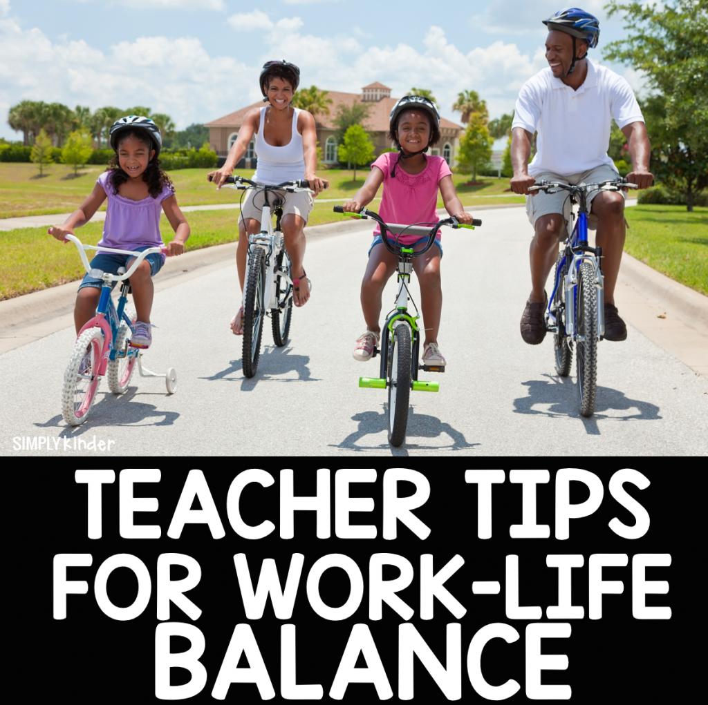 teacher tips for work-life balance