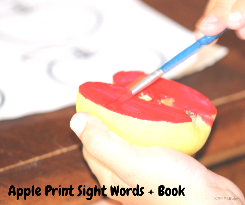 free printable apple print book project