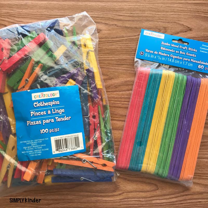 Clothespin Name Practice supplies