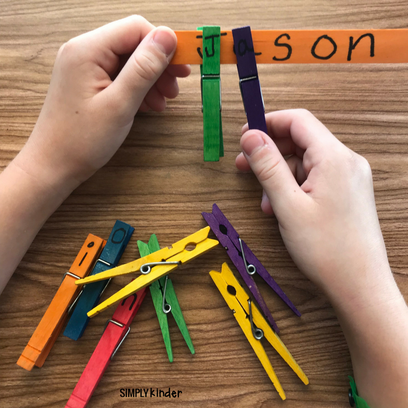 Clothespin Name Practice