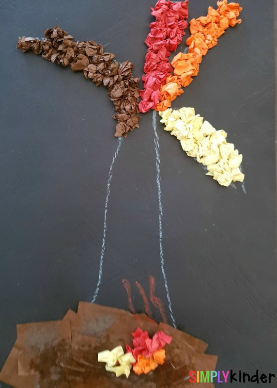 fall leaves fine motor craft finished 3