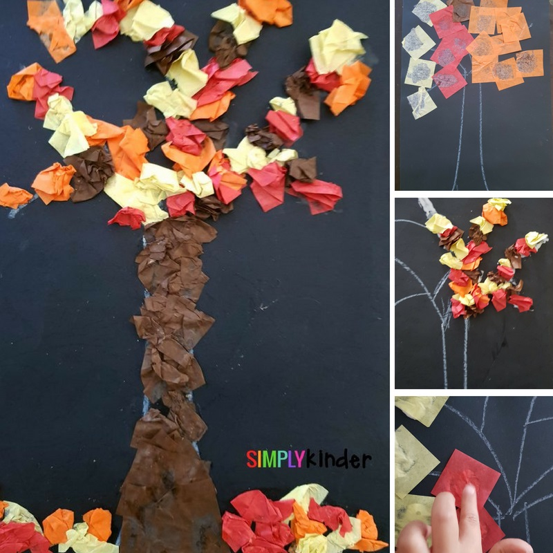 Fall Leaves Fine Motor Craft