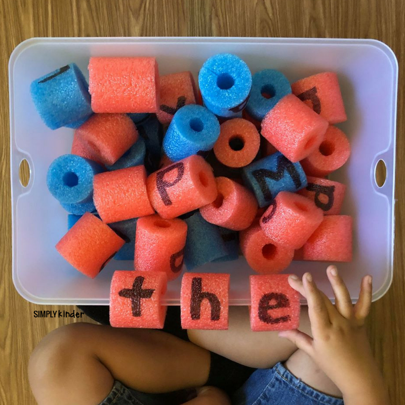 5 ways to use pool noodle letters