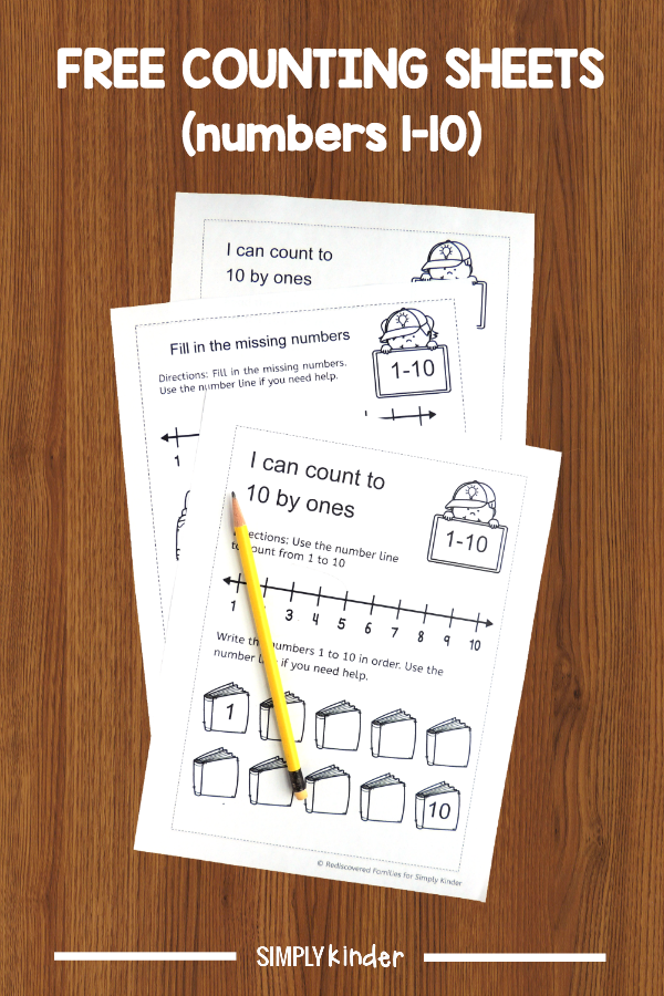 FREE Back To School Counting Worksheets