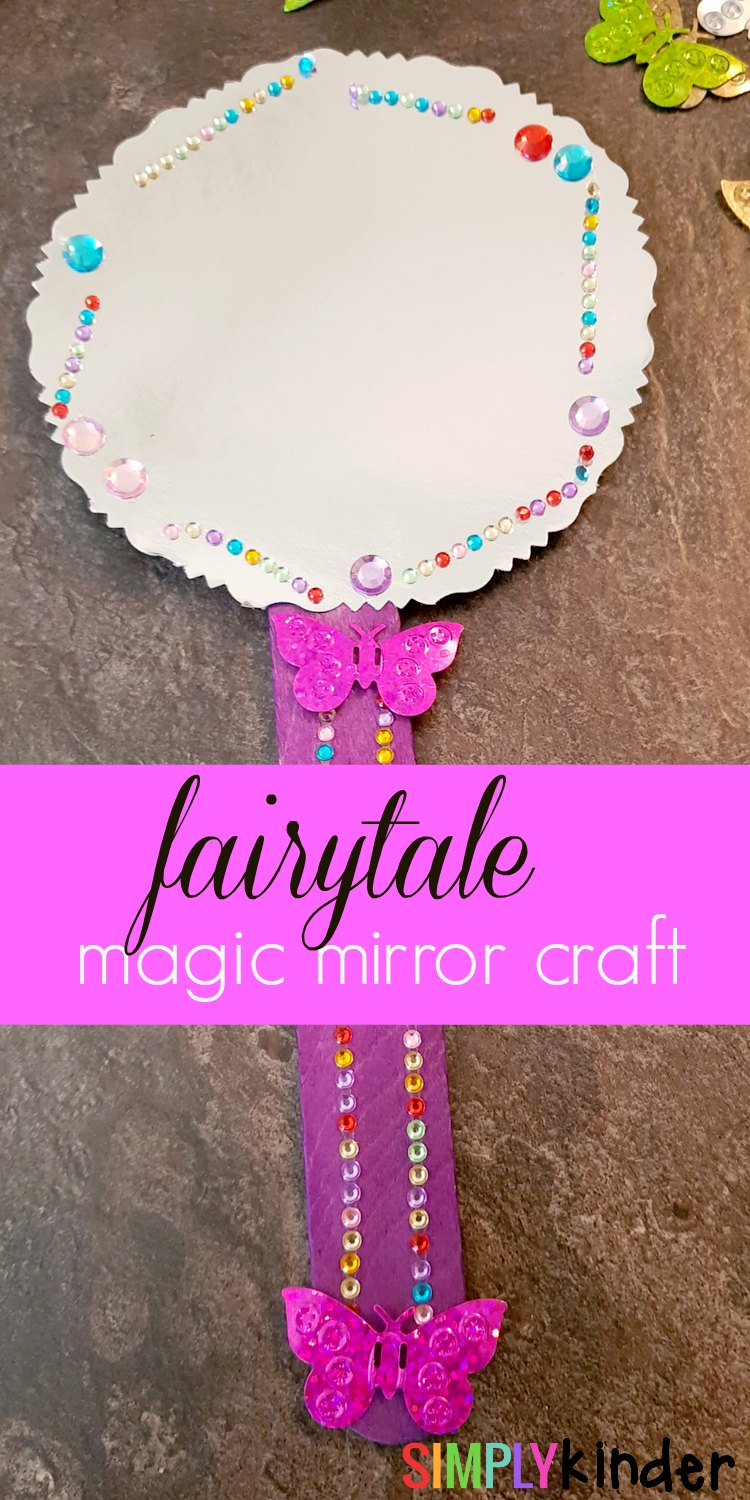 fairytale magic mirror craft for kinders snow white pinterest