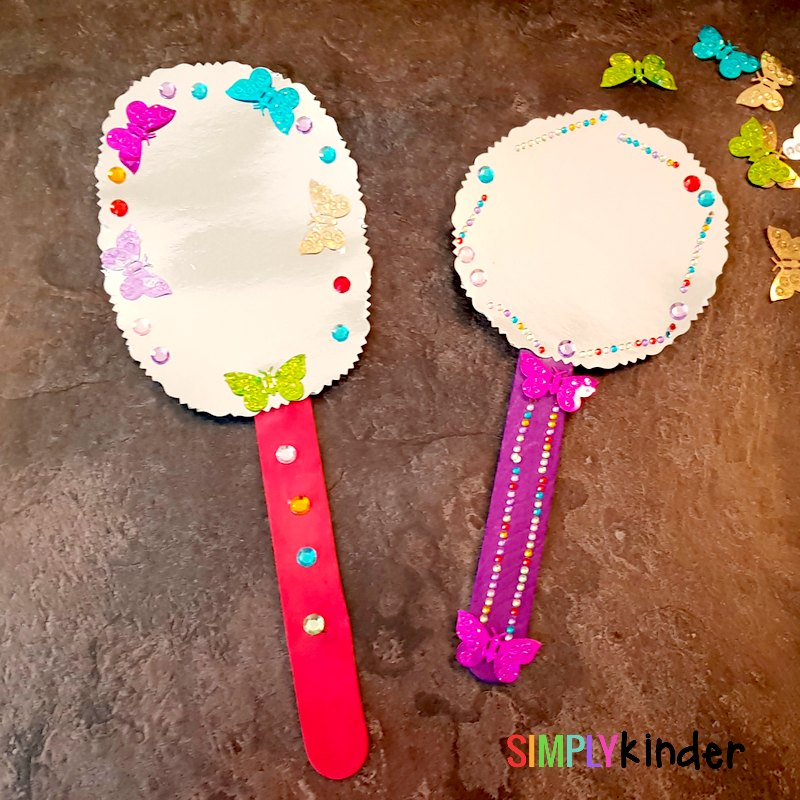 fairytale magic mirror craft idea finished products