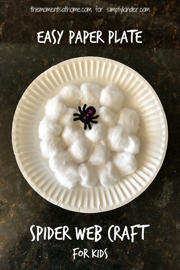 Paper plate spider web craft for kids.