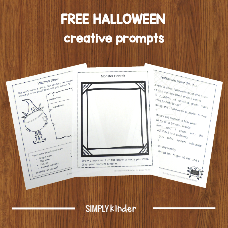 FREE Halloween Creative Prompts For Young Learners