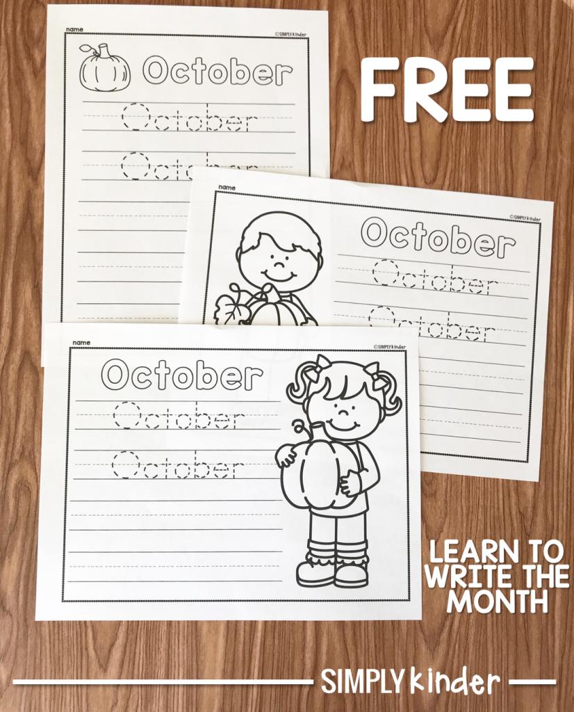 Free October Printable