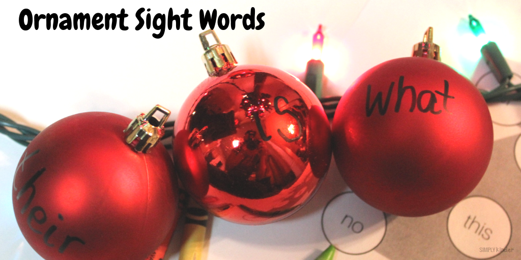 Ornament Sight Words
