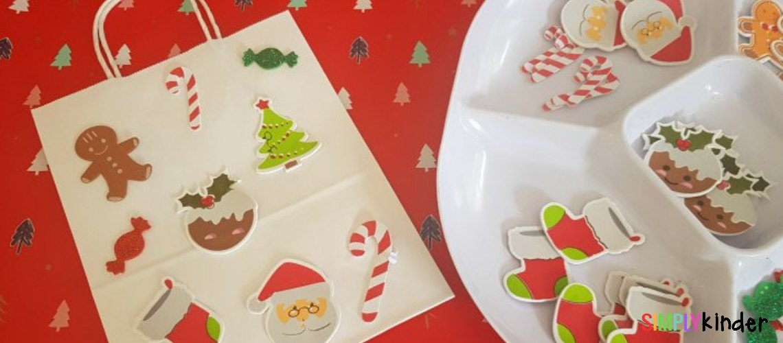 Easy Sticker Christmas Gift Bags