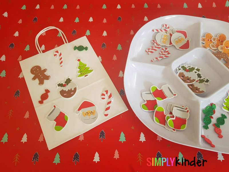 easy foam sticker christmas gift bags finished