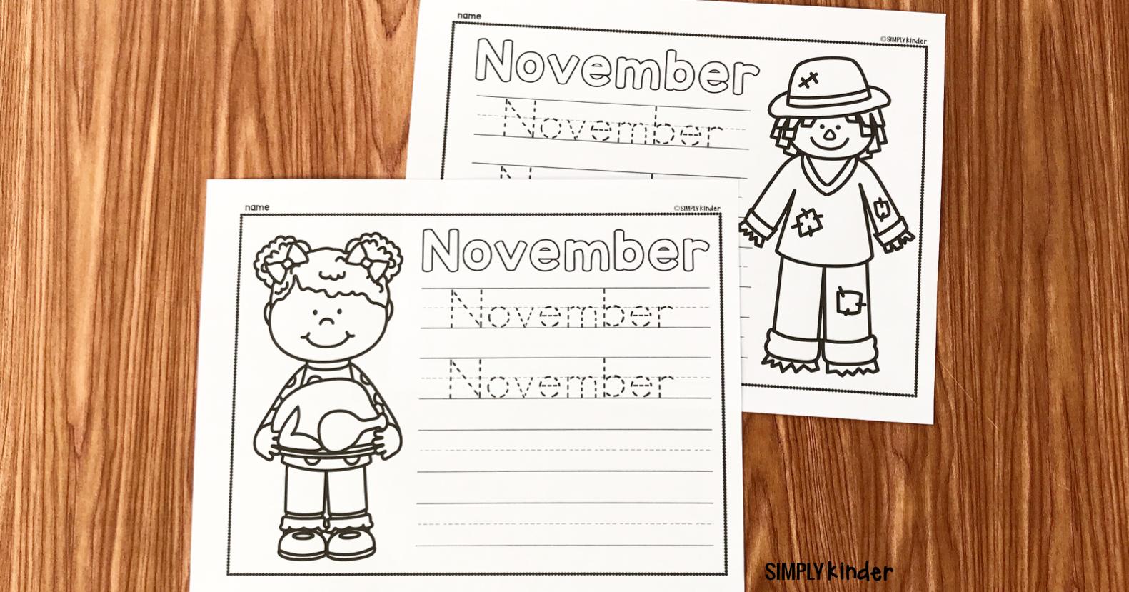 Free November Printable