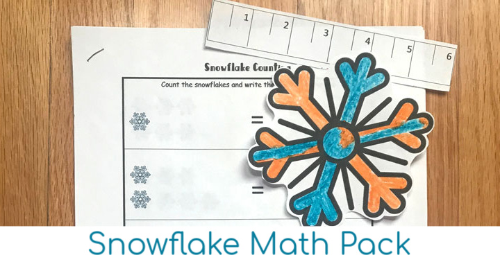 Free Snowflake Printable Winter Math Pack
