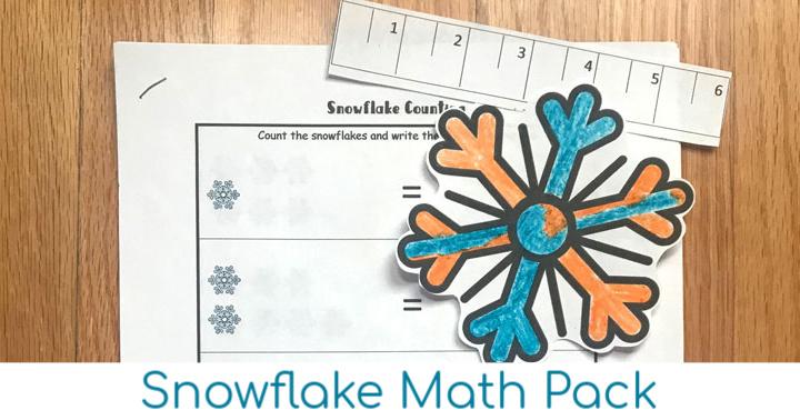 Free Snowflake Printable Winter Math Pack