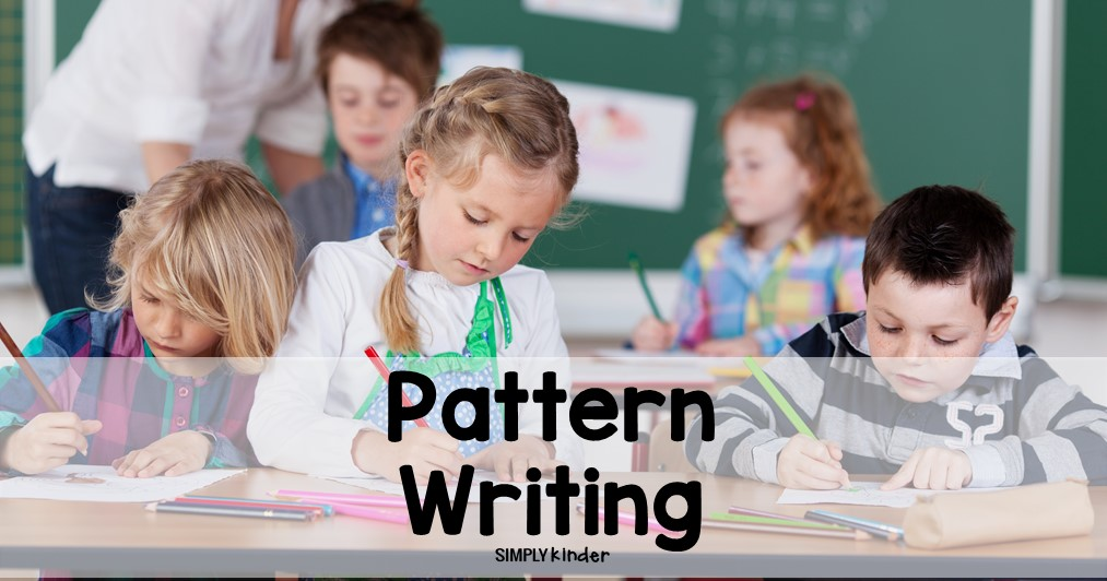 Pattern writing is an important foundational skill in kindergarten. This is one of my favorite ways for my kinder students to practice this writing skill in the classroom.