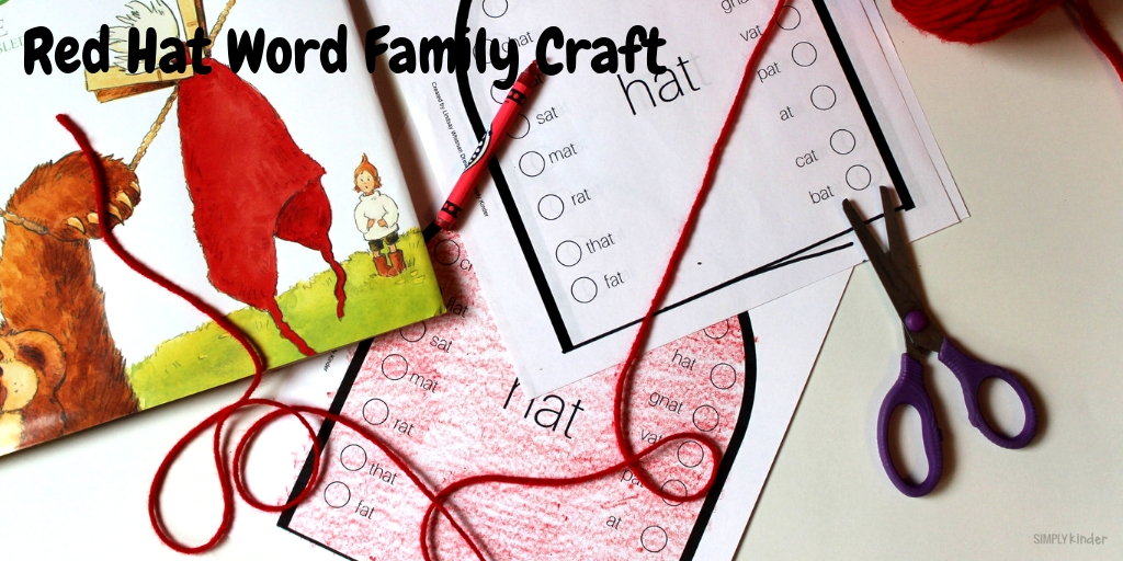 Red Hat -at Word Family Craft