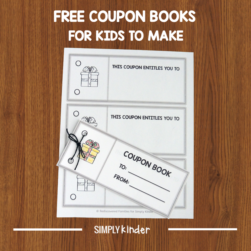 Free Printable Coupon Books For Kids To Make As Gifts