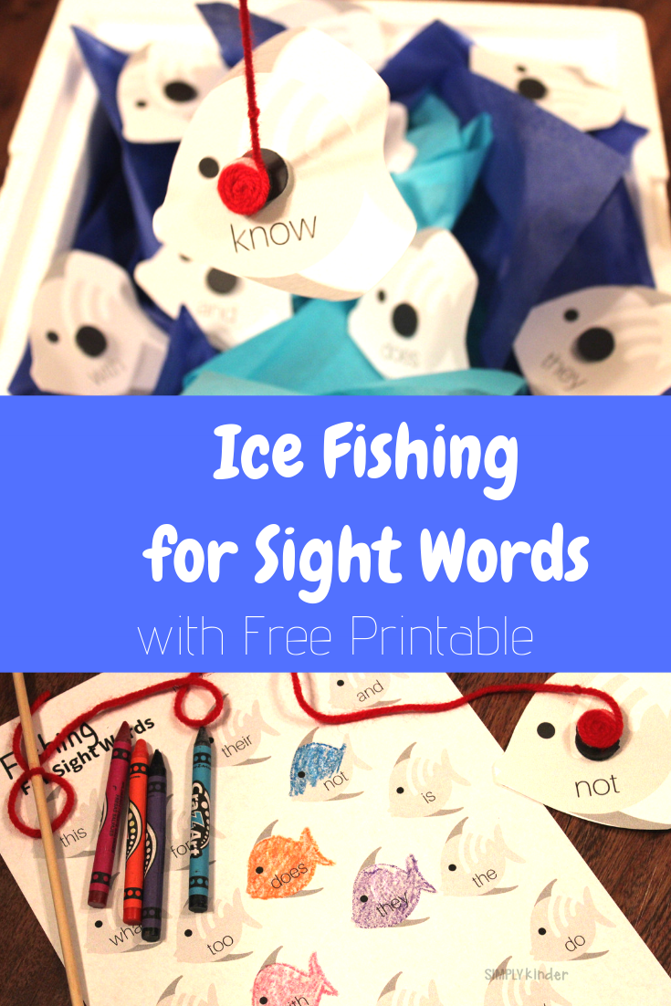 ice fishing for sight words