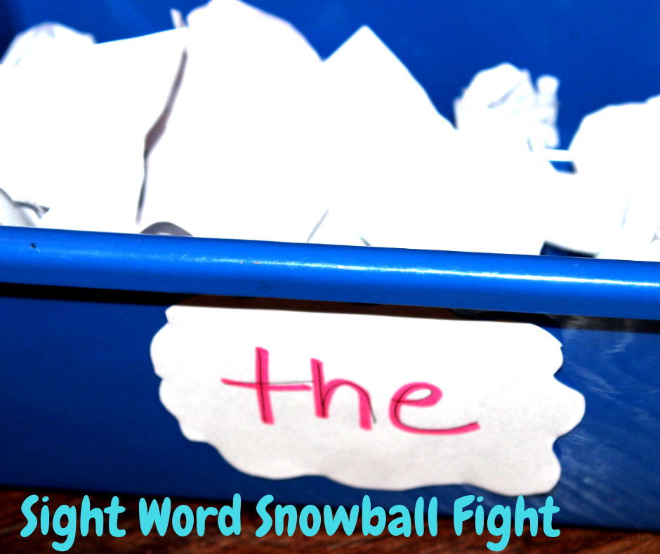 sight word snowball fight