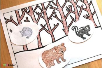 Free Animals in Winter Printable Worksheets