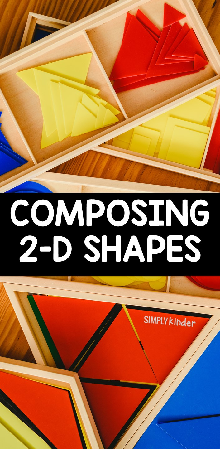 This is a fun way to have your kindergarten students practice composing 2-D shapes using a variety of math manipulatives that you already have in the classroom!